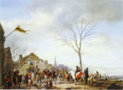 Village with Herring-Pulling Farmers | Philips Wouwerman | Oil Painting