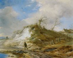 Dune Landscape with Figures | Philips Wouwerman | Oil Painting