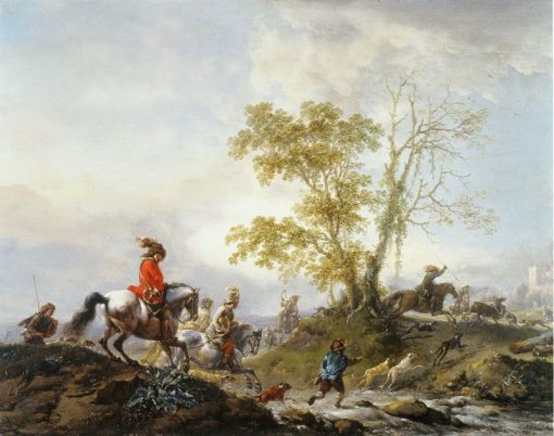 A Stag Hunt | Philips Wouwerman | Oil Painting
