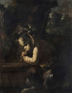 Young Satyr   Pier Francesco Mola   Oil Painting