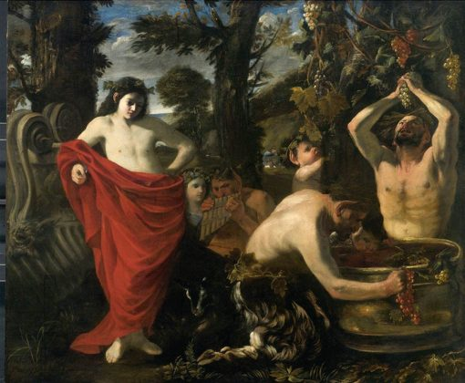 Bacchus Overseeing the Crushing of Grapes by His Satyrs | Pier Francesco Mola | Oil Painting