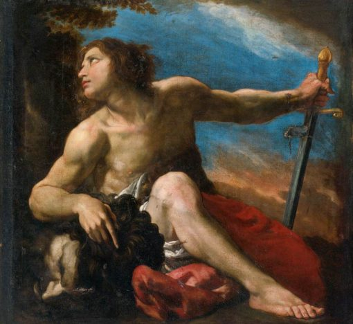 David with the Head of Goliath | Pier Francesco Mola | Oil Painting