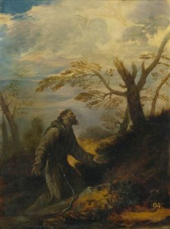 Saint Francis Receiving the Stigmata   Pier Francesco Mola   Oil Painting