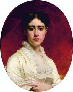Portrait de Madame Mas | Pierre Auguste Cot | Oil Painting