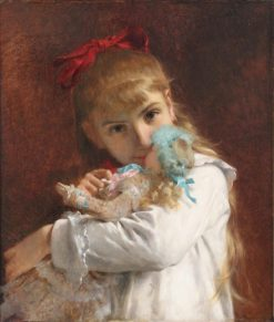 A New Doll(also known as Little Girl) | Pierre Auguste Cot | Oil Painting