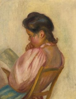 Woman Reading(also known as Femme lisant) | Pierre Auguste Renoir | Oil Painting