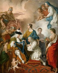 The Duke of Saint Aignan Investing the Prince of Cantalupe and Duke of Selci