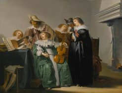 Elegant Company Making Music | Pieter Codde | Oil Painting