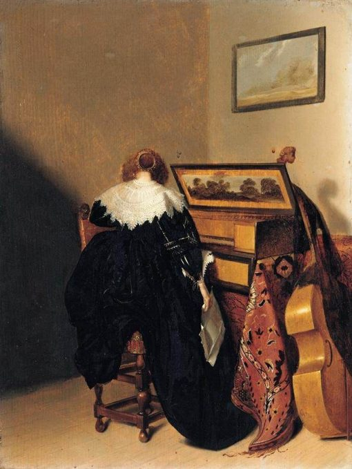 A Lady Seated at a Virginal | Pieter Codde | Oil Painting