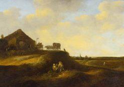 Dune Landscape with Figures Resting | Pieter de Molijn | Oil Painting