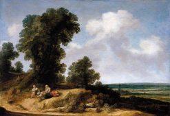 Landscape with Figures Resting | Pieter de Molijn | Oil Painting