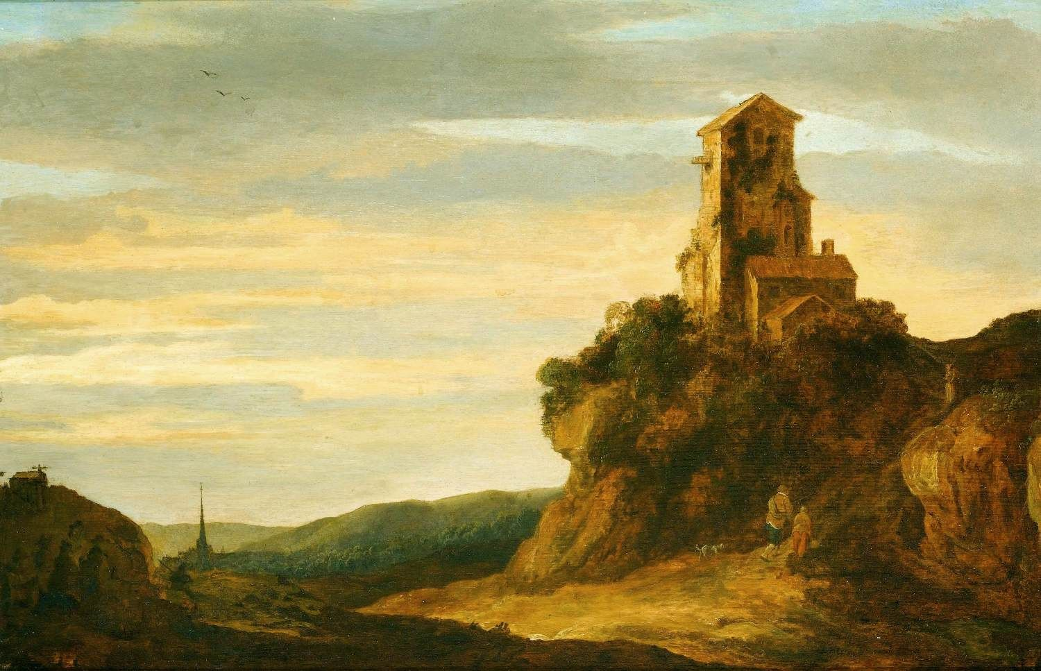Hilly Landscape with House | Pieter de Molijn | Oil Painting
