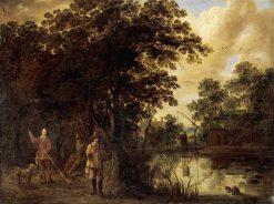River Landscape   Pieter Meulener   Oil Painting