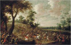 A Cavalry Skirmish | Pieter Meulener | Oil Painting