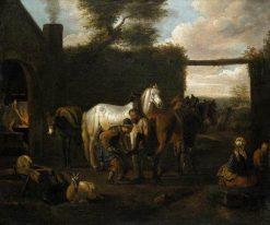 At a Forge | Pieter van Bloemen | Oil Painting