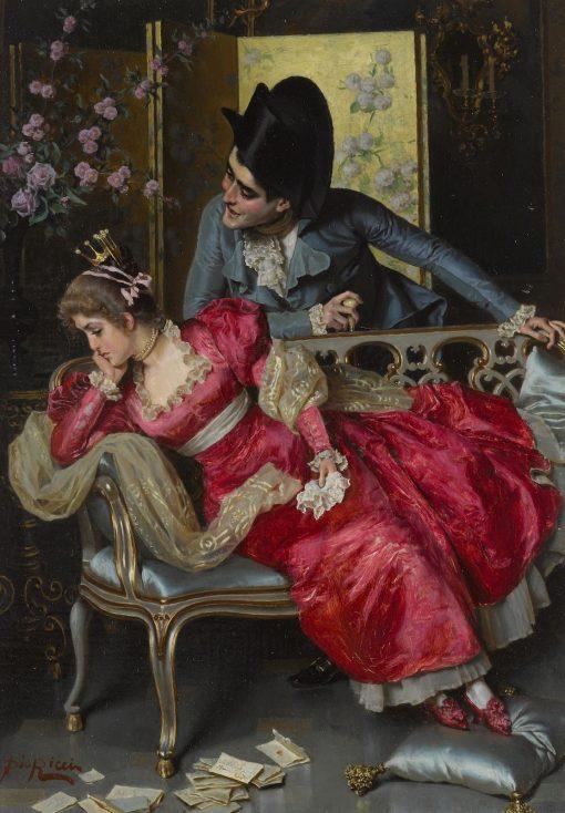 A Lover's Quarrel | Pio Ricci | Oil Painting