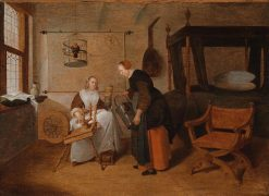 Domestic Scene with Two Women | Quiringh van Brekelenkam | Oil Painting
