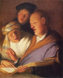Three Singers (Hearing) | Rembrandt van Rijn | Oil Painting