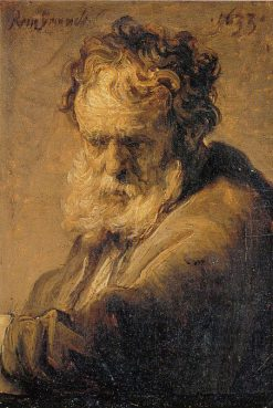 Bust of an Old Man | Rembrandt van Rijn | Oil Painting