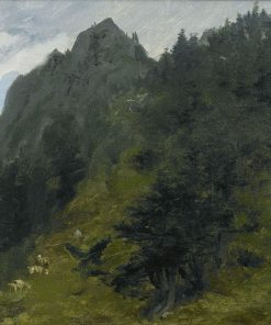 Sheep Grazing on a Hillside in the Pyrenees | Rosa Bonheur | Oil Painting