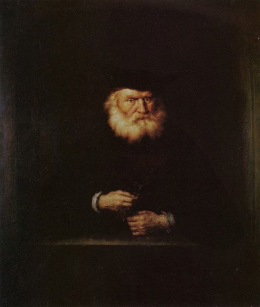 Old Man at a Window   Salomon Koninck   Oil Painting