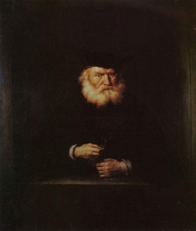 Old Man at a Window | Salomon Koninck | Oil Painting