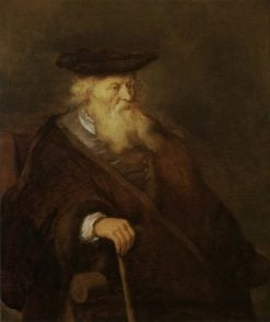 Old Man with a Stick | Salomon Koninck | Oil Painting