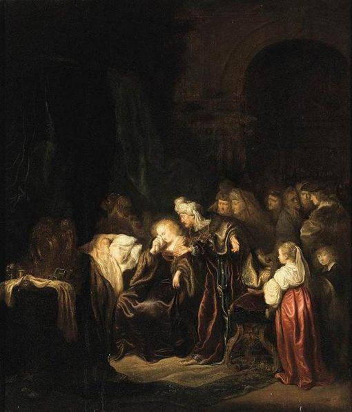 David and Bathsheba Mourning over their Dead Son | Salomon Koninck | Oil Painting