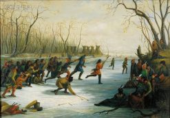 Ball Play of the Sioux on the St. Peters River in Winter | Seth Eastman | Oil Painting