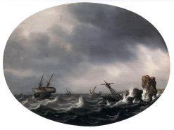Stormy Sea | Simon de Vlieger | Oil Painting