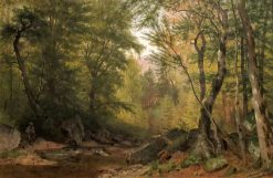 Fly Fishing | Thomas Worthington Whittredge | Oil Painting