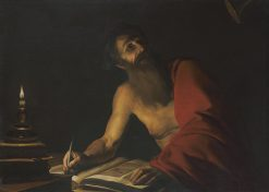 Saint Jerome Reading by Candlelight | Trophime Bigot | Oil Painting
