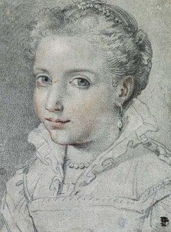 Portrait of a Young Girl in Renaissance Dress | Ubaldo Gandolfi | Oil Painting