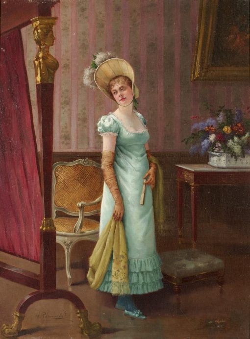Portrait of a Young Lady | Vicente Palmaroli y Gonzalez | Oil Painting