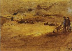 Dunes with Figures   Vincent van Gogh   Oil Painting