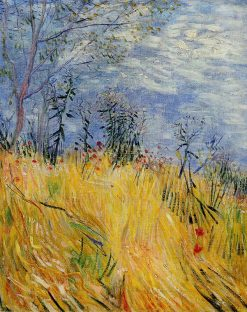 Edge of a Wheat Field with Poppies   Vincent van Gogh   Oil Painting