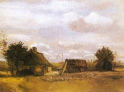 Farmhouse   Vincent van Gogh   Oil Painting