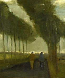 Country Lane with Two Figures | Vincent van Gogh | Oil Painting