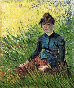 Woman Sitting in the Grass(also known as Woman in a Field of Wheat) | Vincent van Gogh | Oil Painting