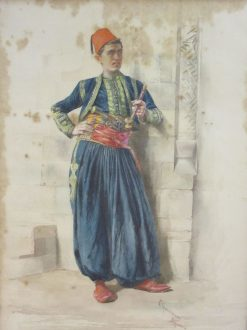 Zouave Smoking a Pipe | Vittorio Guaccimanni | Oil Painting