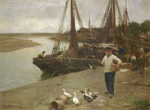 Where the Boats Come In | Walter Frederick Osborne | Oil Painting