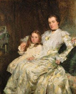 Portrait of Mrs Chadwyck-Healey and Her Daughter | Walter Frederick Osborne | Oil Painting