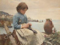 Knitting | Walter Langley