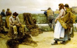 Departure of the Fleet of the North | Walter Langley