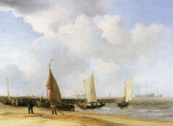 Beach Scene | Willem van de Velde the Younger | Oil Painting