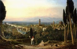View of Florence and the River Arno from St. Miniato | William James Muller | Oil Painting