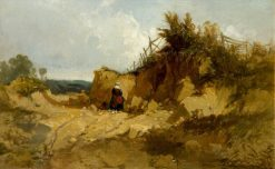 Landscape with a Woman in a Quarry | William James Muller | Oil Painting