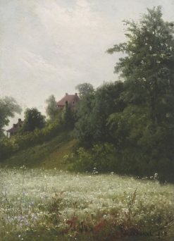 Pastoral Landscape with Houses | William Raphael | Oil Painting