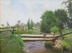 Bridge over a Stream | William Raphael | Oil Painting