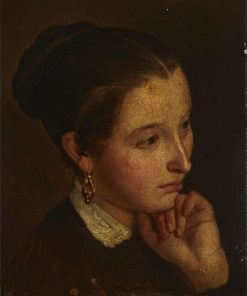 Portrait of a Young Girl | William Raphael | Oil Painting